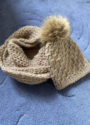 Зимняя шапка и хомут