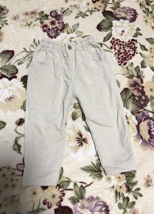 Вельветовые штанишки штаны
