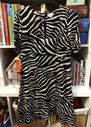 Платье в принт : эффектное платье на осень