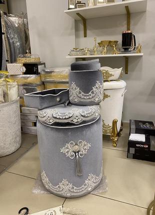 Набор корзин для ванной комнаты 🌹