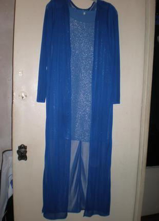 Платье-майка+ шифоновый кардиган.