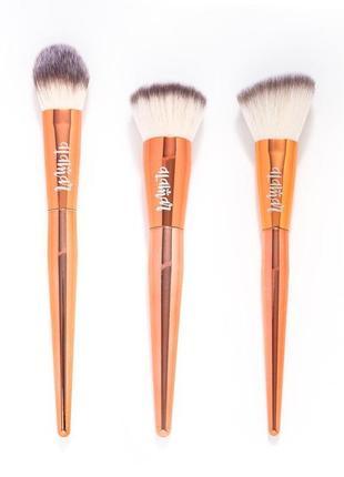Набор мягчайших кистей для лица alamar cosmetics complexion brush trio