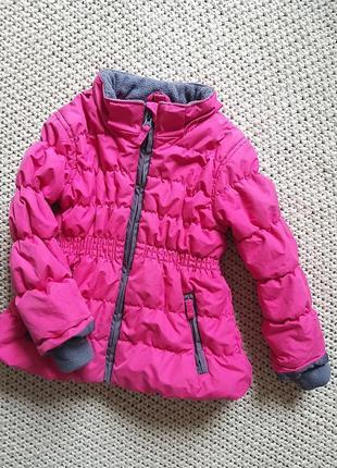 Тёплая яркая куртка