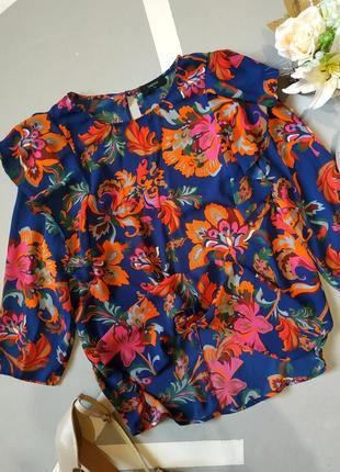 Легкая шифоновая блуза с воланами