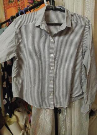 Хлопковая рубашка bershka