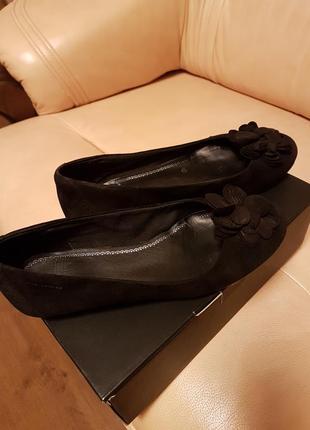 Туфли vagabond черные замшевые