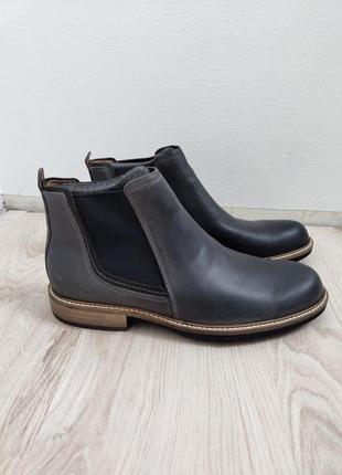 Ботинки мужские кожаные ecco, р. 43