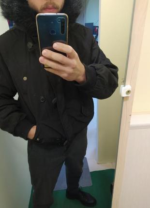 Курточка бомбер в стиле аляска,парка