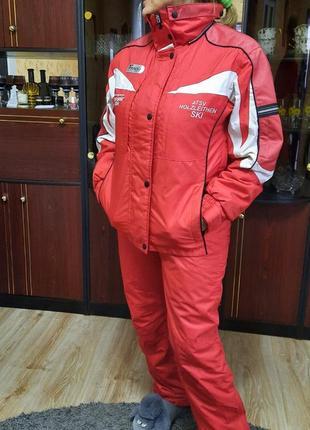 Красный горнолыжный костюм, лижний костюм, размер m.