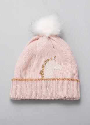 Шапка зимняя розовый