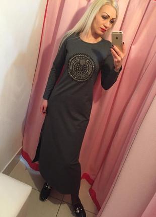 Длинное спортивное платье rossodiso, размер s и l