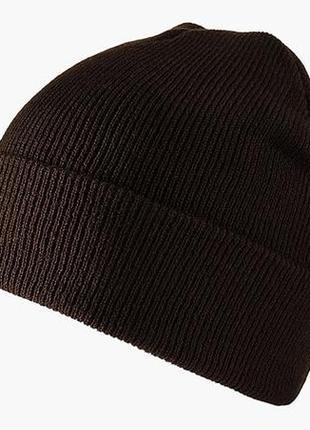 Шапка шапочка бини с заворотом мужская женская унисекс шоколадная новая