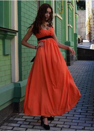 Выпускное вечернее нарядное длинное платье/сарафан в пол andre tan