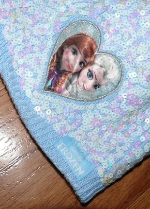 Шапка для девочки холодное сердце