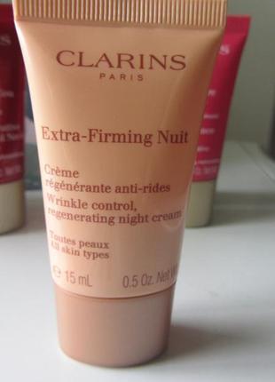 Ночной крем   clarins extra-firming night all skin types.15 мл