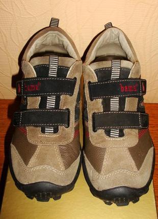 Туфли, кроссовки унисекс бренд вama (германия) 100% нат. кожа+замша р.38/25,5сm
