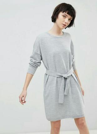 Крутое платье-свитер с поясом asos
