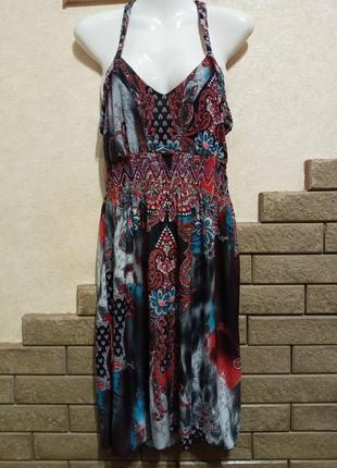 Красивый фирменный сарафан платье