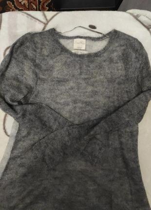Свитер мохеровый zara knit