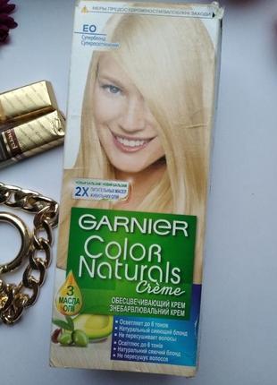 Краска для волос  garnier e0 супер блонд суперосветляющий