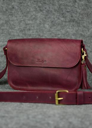 b6cf6f6229b5 Кожа. ручная работа. кожаный женский клатч. кожаная сумка, сумочка. цвет  марсала