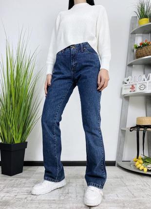 Джинсы плотные в винтажном стиле винтаж wrangler винтажные клеш прямые широкие