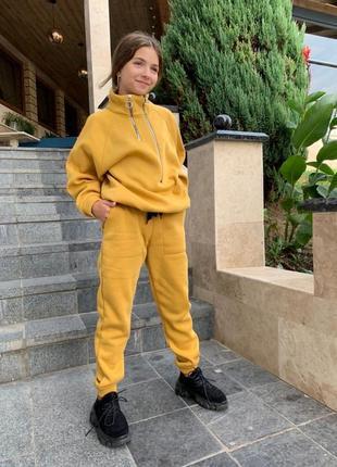 Подростковый утеплённый спортивный костюм м-796