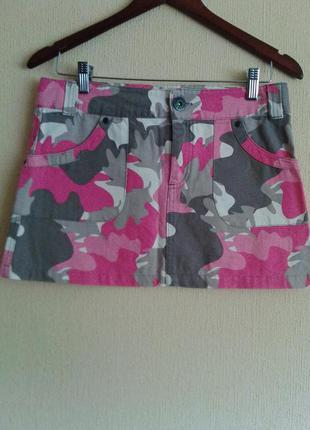 Новая фирменная короткая мини юбка от hema в стиле милитари-casual