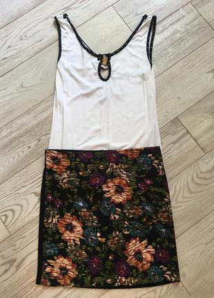 Цветочная мини-юбка