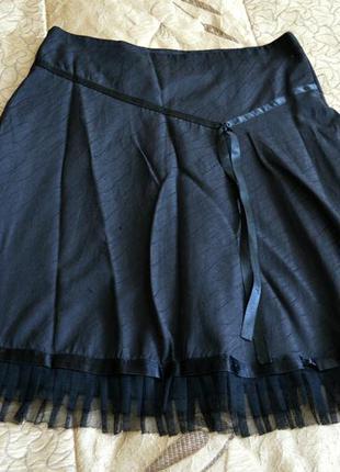 Черная, классическая юбка, буквой а, расклешенная, модная, красивая