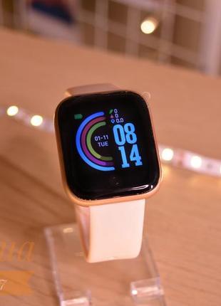 Смарт часы fitpro d20 pro с розовым ремешком(новые)/фитнес браслет fitpro d20 pro