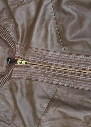 Стильная актуальная натуральная кожаная куртка h&m кожа2 фото