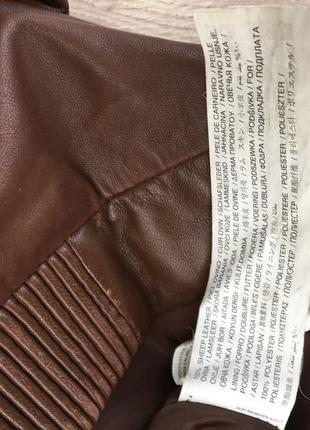 Стильная актуальная натуральная кожаная куртка h&m кожа5 фото