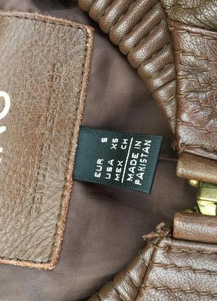 Стильная актуальная натуральная кожаная куртка h&m кожа4 фото
