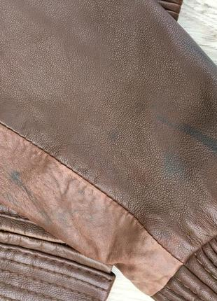 Стильная актуальная натуральная кожаная куртка h&m кожа3 фото