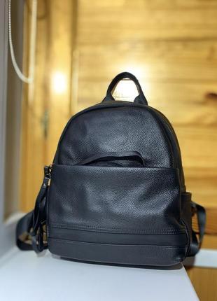 Женский рюкзак из натуральной кожи / женские кожаные рюкзаки / кожа / черный