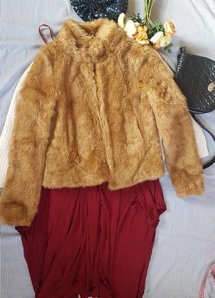 Полушубок укороченный меховая куртка