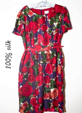 Шелковое платье в стиле dolce gabbana