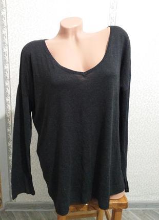Пуловер оверсайз, лонгслив,  тонкий трикотаж. (3493)