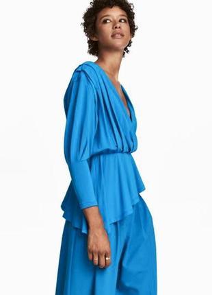 H&m стильная блуза с ассиметричным низом