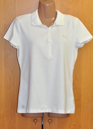 Спортивная футболка с воротничком тенниска puma размер l/xl