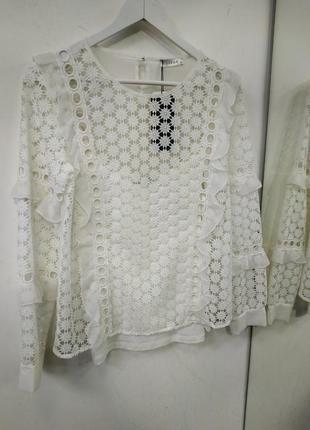 Блузка блуза кружево белая