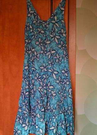 Леинее платье,длинное, большого размера