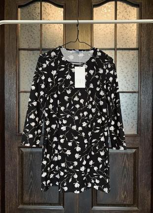 Платье с длинным рукавом zara