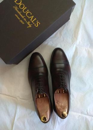 Шикарні туфлі-оксфорди doucal's (hand made in italy)
