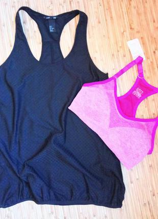 Удлиненная маечка  для спорта,одежда для фитнеса