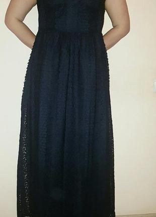 Шикарное кружевное платье макси от zara