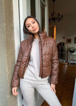 Куртка матовая эко кожа