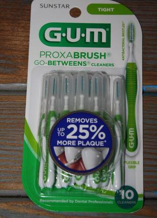 Интердентальная щетка gum proxabrush go-betweens interdental brushes 10 шт