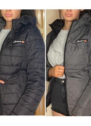 Двусторонняя деми куртка ellesse, оригинал, р-р xs или 6